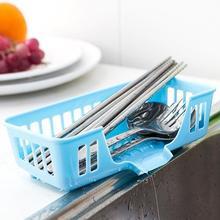 New Cutlery Sponge Drainer Kitchen Sink Bathroom Drying Rack Organizer  Storage