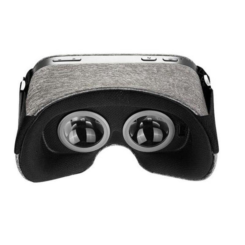 LEORY 5,5 pulgadas paño VR gafas bluetooth luz transpirable Hardware aceleración VR 3D gafas con USB TF tarjeta WiFi 4 K de salida - 3