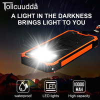 CNPOWER Original Tollcuudda DYLH01 Solar Power Bank 10000MAH Poverbank Bateria Celular Portable Batteries LJJ629