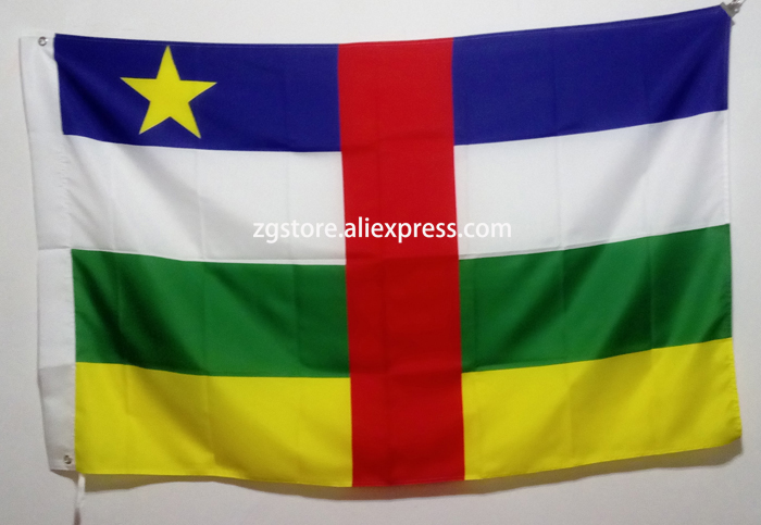 Central African Republic Africa National Flag All Over The World hot sell goods 3X5FT 150X90CM Banner brass metal holes
