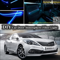 interior Ambient Light Tuning Atmosphere Fiber Optic Band Lights For Hyundai Grandeur Azera Inside Door Panel illumination Refit