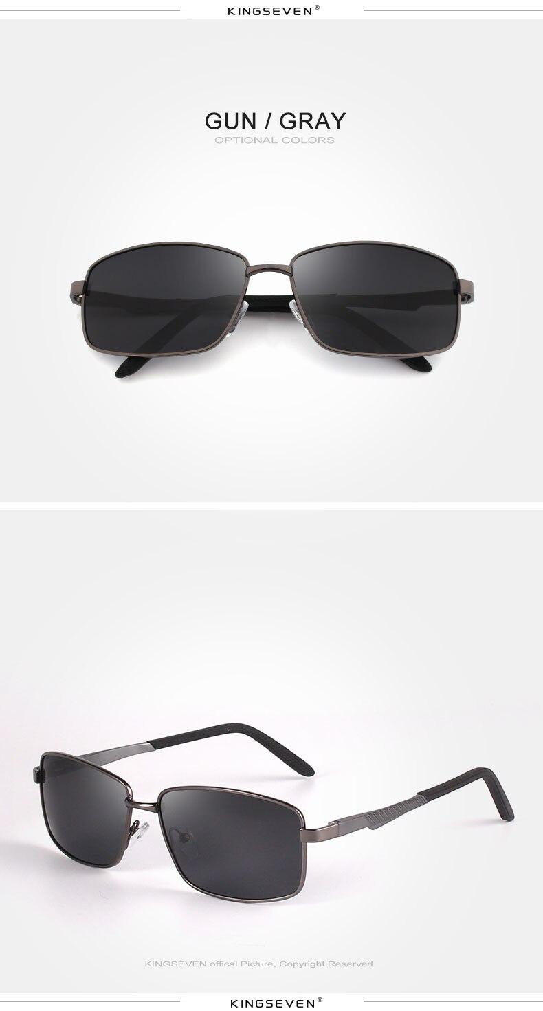 KINGSEVE Brand rectangular sunglasses male and female neutral sunglasses retro sunglasses with polarized lenses uv 400 4