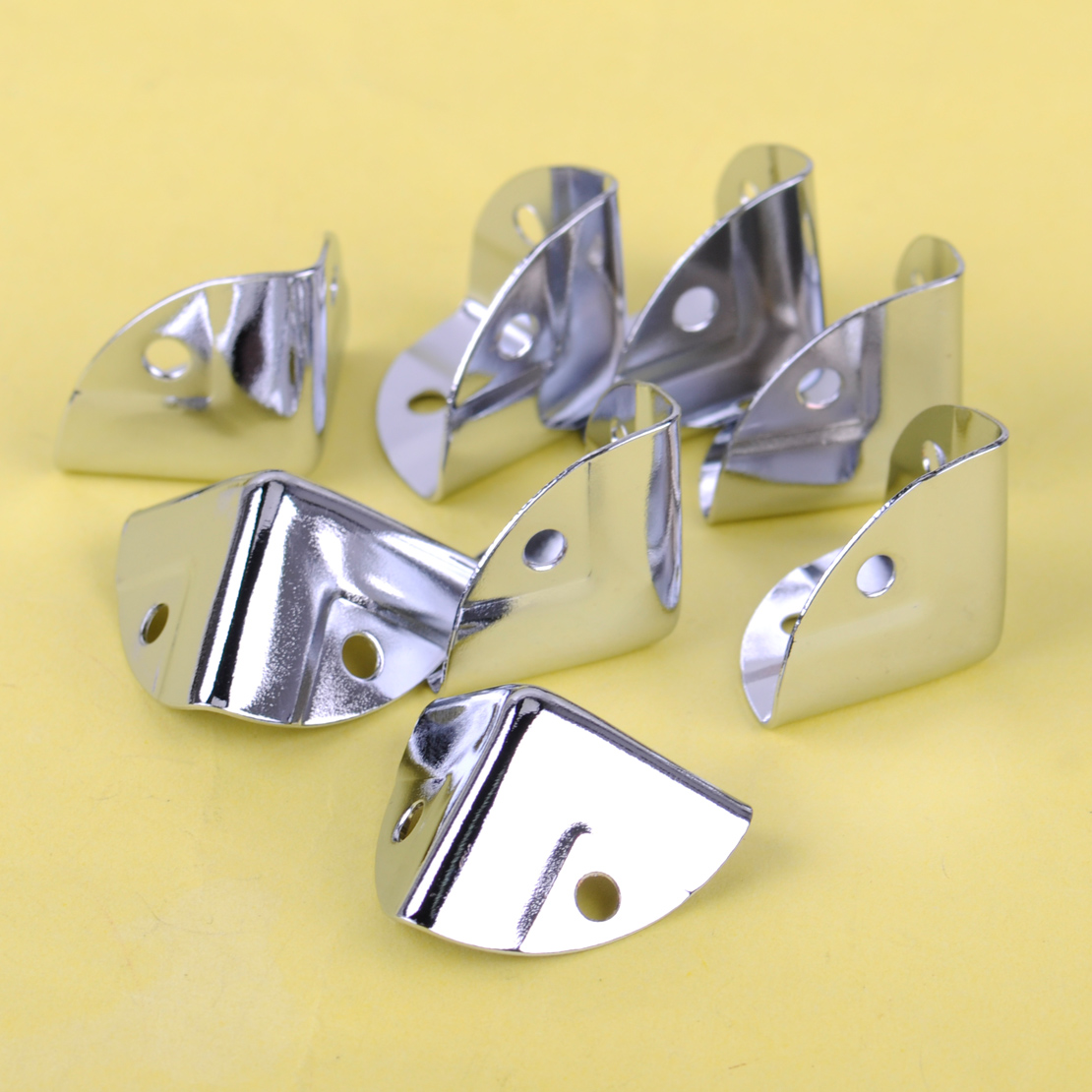 8pcs/set Metal Corner Bracket Angle Brace Protectors For Wooden Trunk Box Chest Flightcase