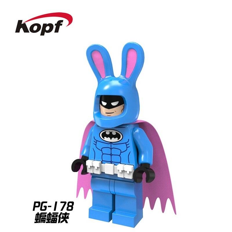 PG178 Single Sale Super Heroes Easter Bunny Batman with Purple Cape Bricks Model Building Blocks Best Children Gift Toys PG8047 single sale super heroes homecoming spiderman with hand spidder