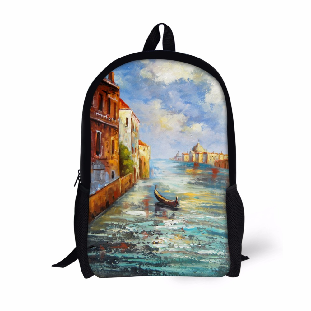 Noisy Designs Bag Eiffel Tower Backpack For Teenager Boys Girls Bookbags Printed Mens Schoolbag for Kids Personality Designs