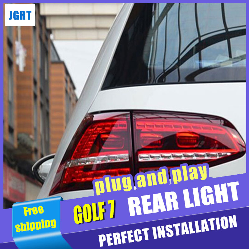 Car Styling for VW Golf 7 Taillights 2013-2014 Golf7 MK7 LED Tail Light Rear Lamp DRL+Brake+Park+Signal car parts tail lamp for vw golf 6 2008 2009 2010 2011 2012 2013 led tail light rear lamp plug and play design