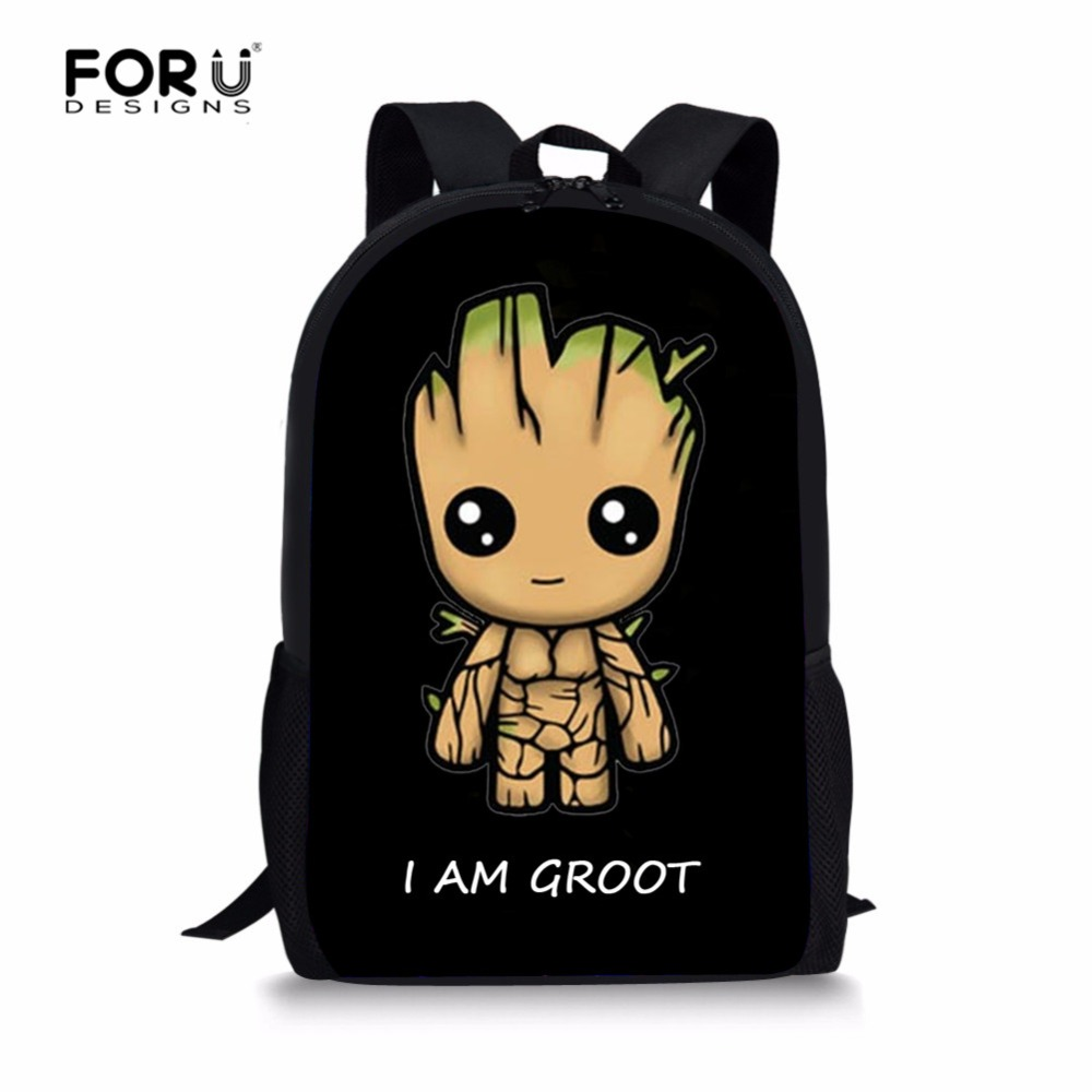 Forudesigns Fashion Groot Kid Schoolbag Children Backpack Cartoon Backpacks School Bags For Teenagers Boys Big Capacity School Bags Aliexpress