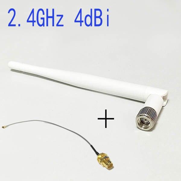 imágenes para 2.4 Ghz Wifi Antena $ number dbi Omni RP-SMA conector Blanco + hembra RP-SMA a u. fl/ipx conector cable 15 cm para el router inalámbrico