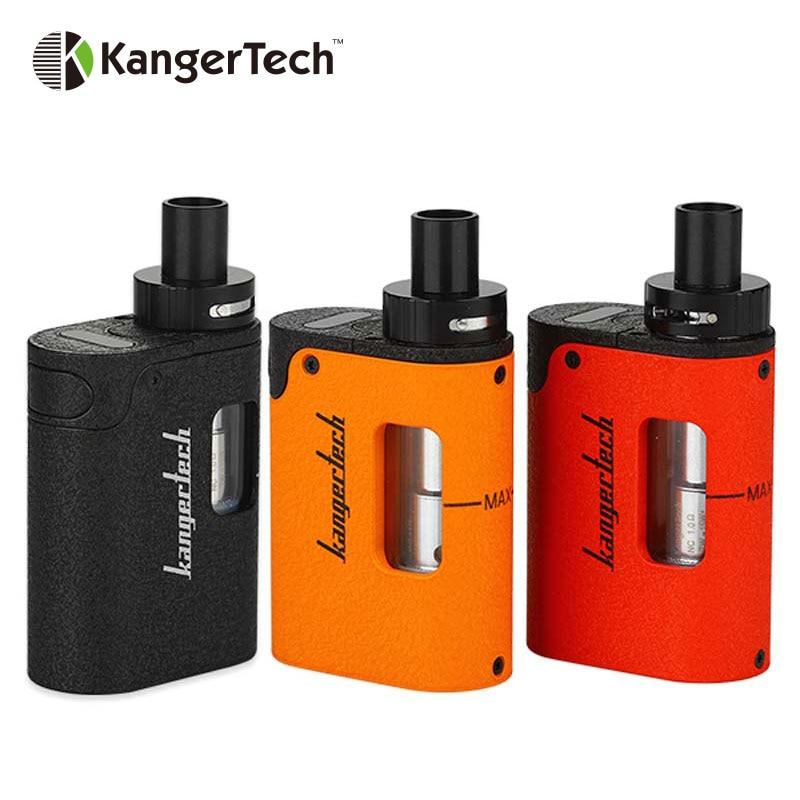 Kangertech originale TOGO Mini Starter Kit 1600 mAh 3.8 ml Serbatoio con il nuovo simmetrico design del flusso d'aria e 5 LED indicatore di batteria
