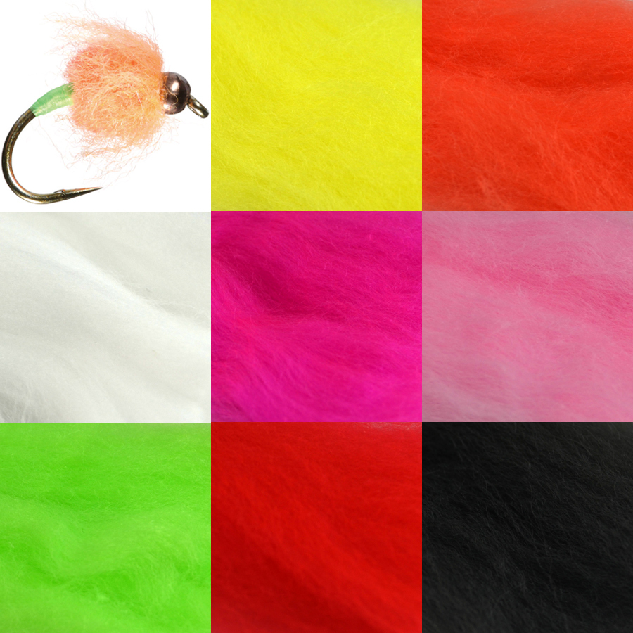 4 Packs Egg Fly Tying Yarn Slamon Trout Fishing Flies Tying Material Egg Yarn Fiber Red etc Assorted Colors Lure Making Material 5sheets pack 10cm x 5cm holographic adhesive film fly tying laser rainbow materials sticker film flash tape for fly lure fishing