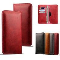 Multipurpose Universal de luxo do vintage saco bolsa de telefone com Suporte de Cartão de Crédito Slot Para menos de 5.7