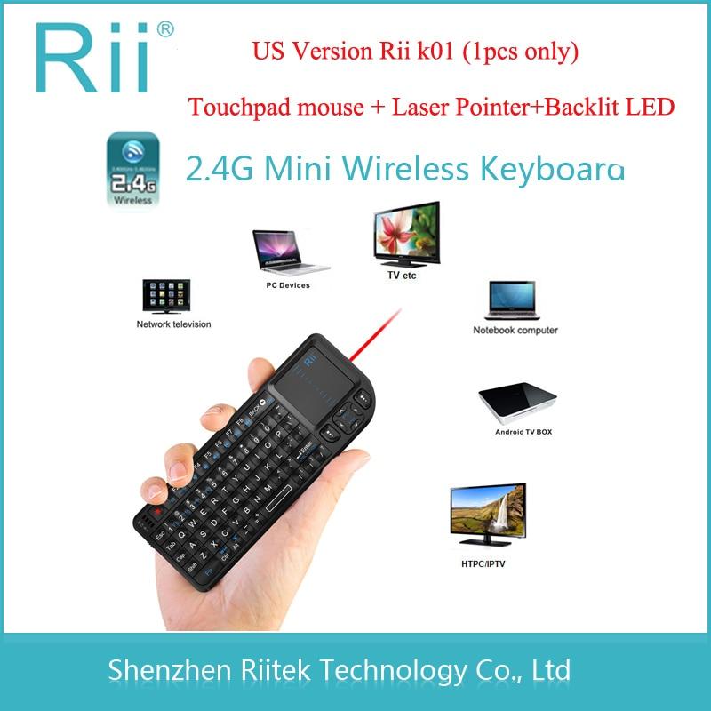 Rii mini k01 2 4G Wireless Keyboard Touchpad mouse font b Laser b font font b