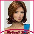 Медуза продукты волос: бесплатная доставка Синтетический пастельные парики для женщин Средней Длины волнистые боб стиль Моно парик с челкой SW0138