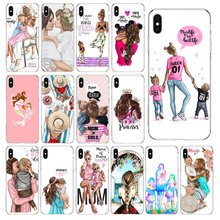 Babaite Mom and baby Transparent TPU Soft Silicone Phone Cover for Apple iPhone 8 7 6 6S Plus X XS MAX 5 5S SE XR Cellphones babaite cartoon air plane soft silicone transparent phone case for apple iphone 8 7 6 6s plus x xs max 5 5s se xr cover