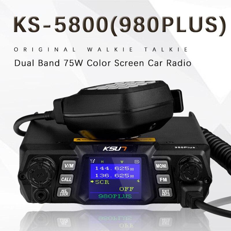 KSUN talkie walkie 980 Plus double bande civile 75 W haute puissance de poche à deux voies radio mobile en plein air de voiture radio émetteur-récepteur