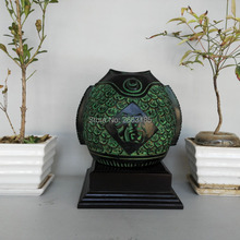2017 New Chinese Antique Bronze Lucky Fish Pot Hundreds FU and Cai Sign Home Decoration Beautiful Collection