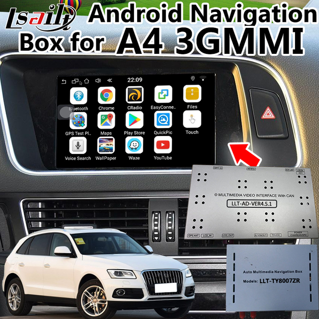 US $382 5 15% OFF|Android 6 0 Video Interface GPS Navigation for AUDI  A6L/S6/A8L/Q7/A4L/A5/Q5/Q3/A1 3GMMI with WIFI APP , Mirrorlink etc -in  Vehicle