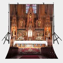 150x220cm Christian Church Photography Backdrop Wooden Chairs Wedding Lover Portrait Backdrops Studio Props
