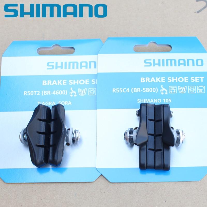 Shimano BR-5800 R55C4 CARTRIDGE-TYPE BRAKE SHOE SET PAIR BLACK
