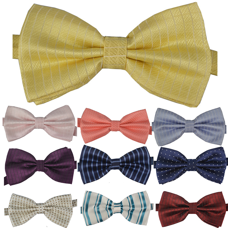 Free Shipping NEW Arrival Classic Striped Bowtie Fashion Neckwear Adjustable Men Wedding Bow Tie Polyester Bowties for man