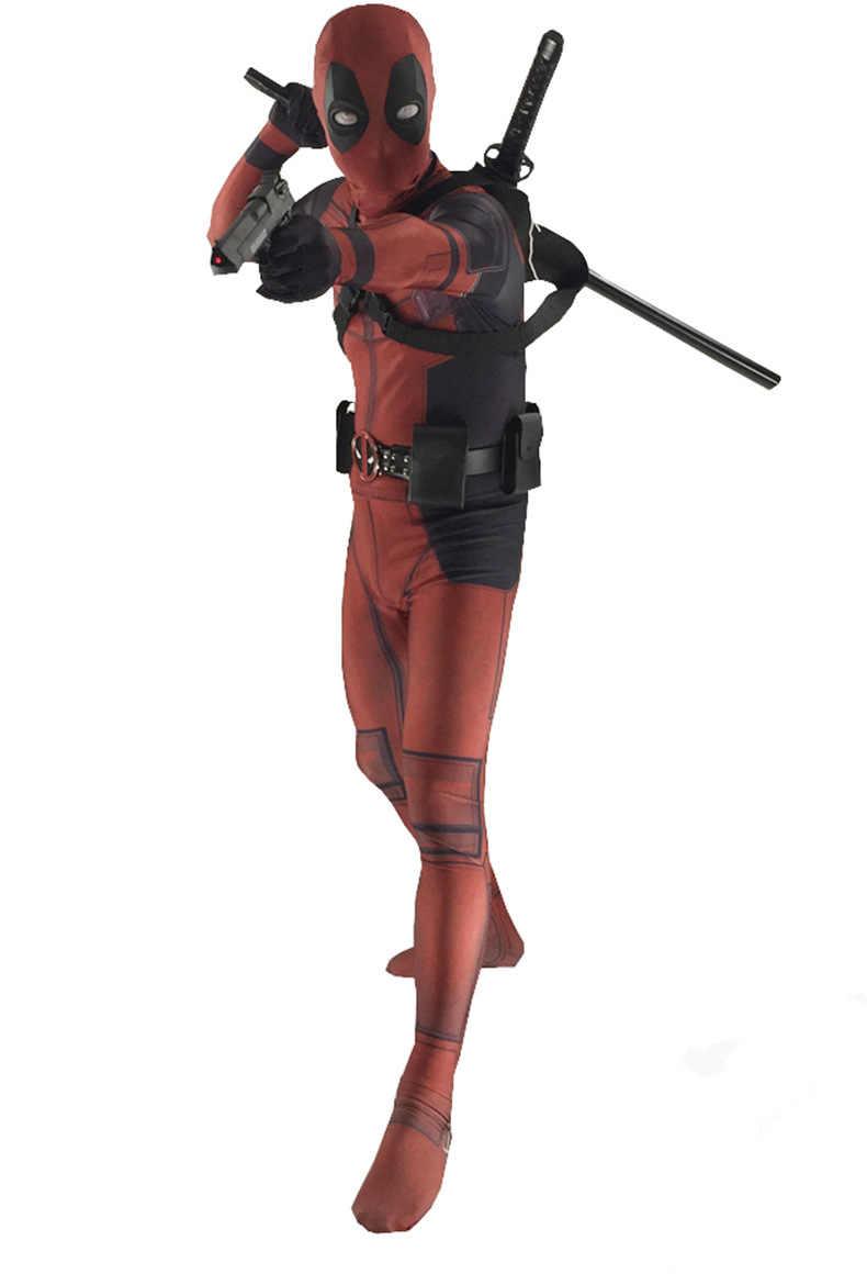 Deadpool คอสเพลย์เครื่องแต่งกายชาย MARVEL Deadpool-เครื่องแต่งกายผู้ใหญ่ Wade Wilson Spandex Lycra ไนลอน Zentai บอดี้สูทผิวแน่น