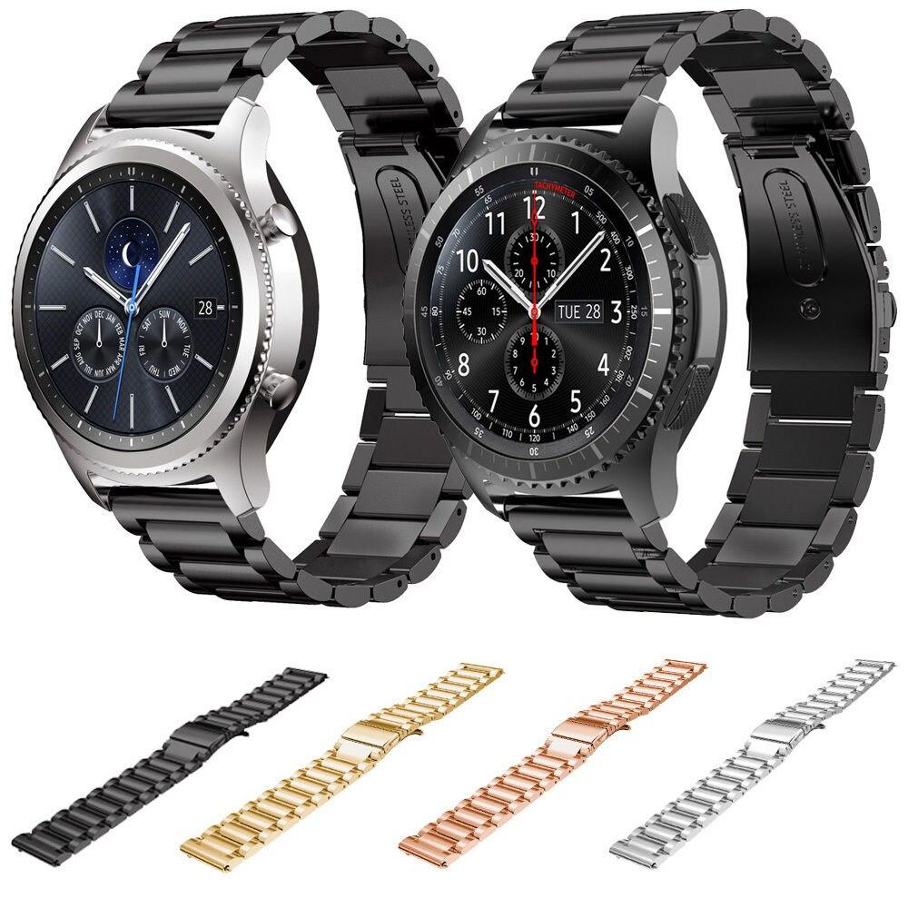 Novo Relógio De Aço Inoxidável Banda Para Samsung Galaxy Gear S3 Fronteira S3 Substituição Clássico Alça De Pulso Da Banda Para Samsung Gear S3 Phone S3 Miniband Watch Aliexpress