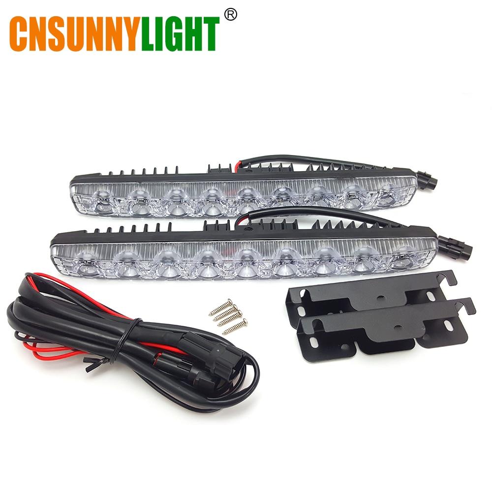CNSUNNYLIGHT High Quality LED DRL Car Daytime Running Lights Daylight Automotives Fog light 9 LEDs Super