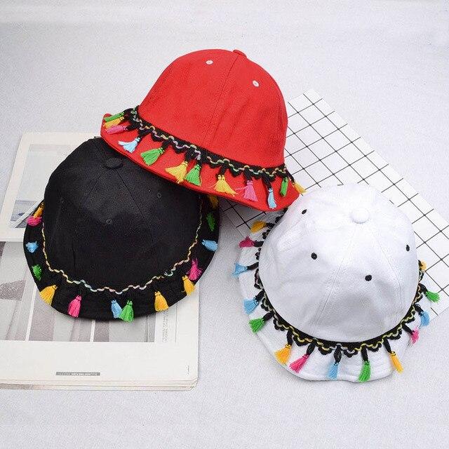 [DRESSUUP] Шляпа Солнца Женщины Ведро Шляпы Открытый Летний Хлопок Кисточкой Складной Путешествия Женщины Зимние Шапки Для Женщин Hat мода Женский
