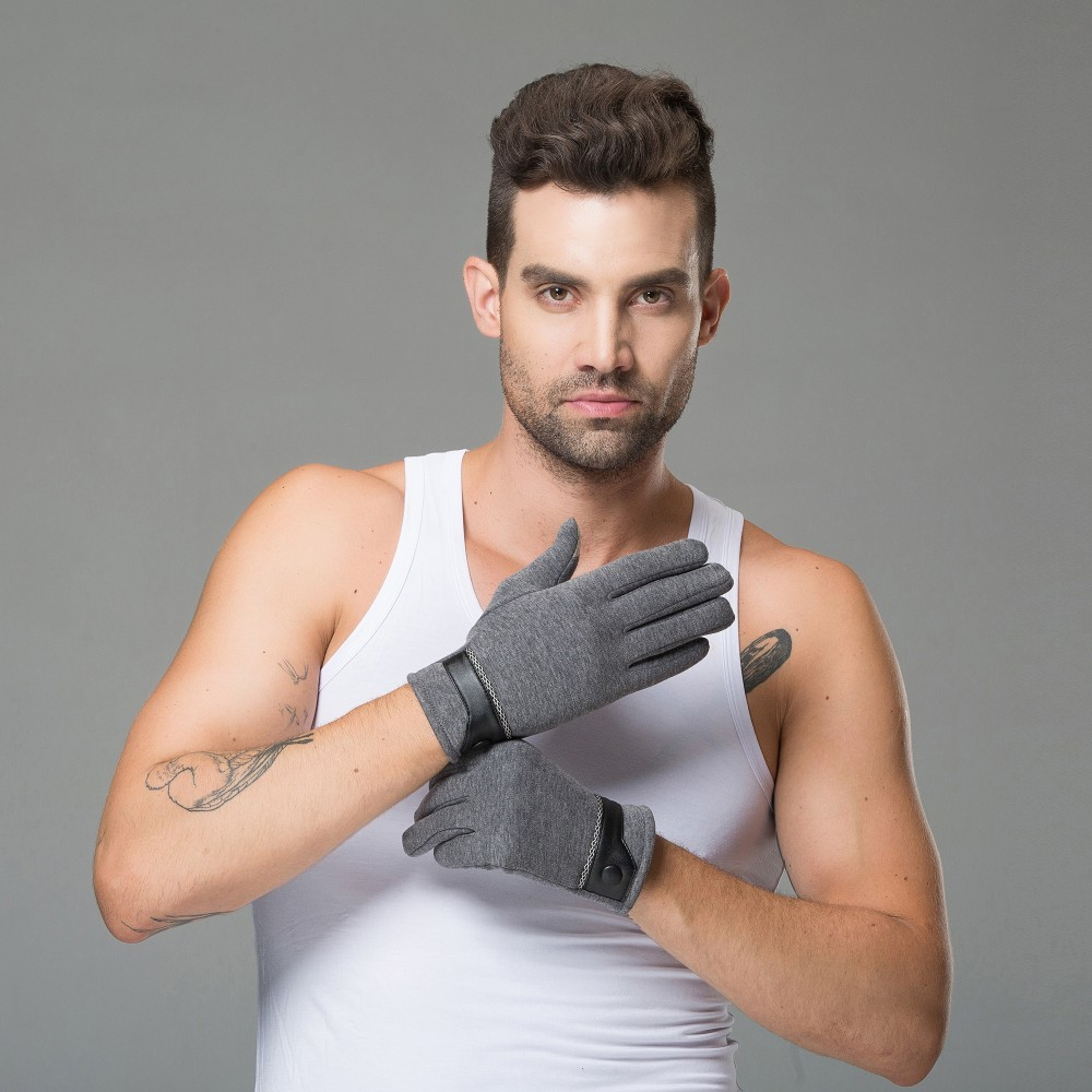 2018 Winter Warm Stretchy Mittens Gloves For Men