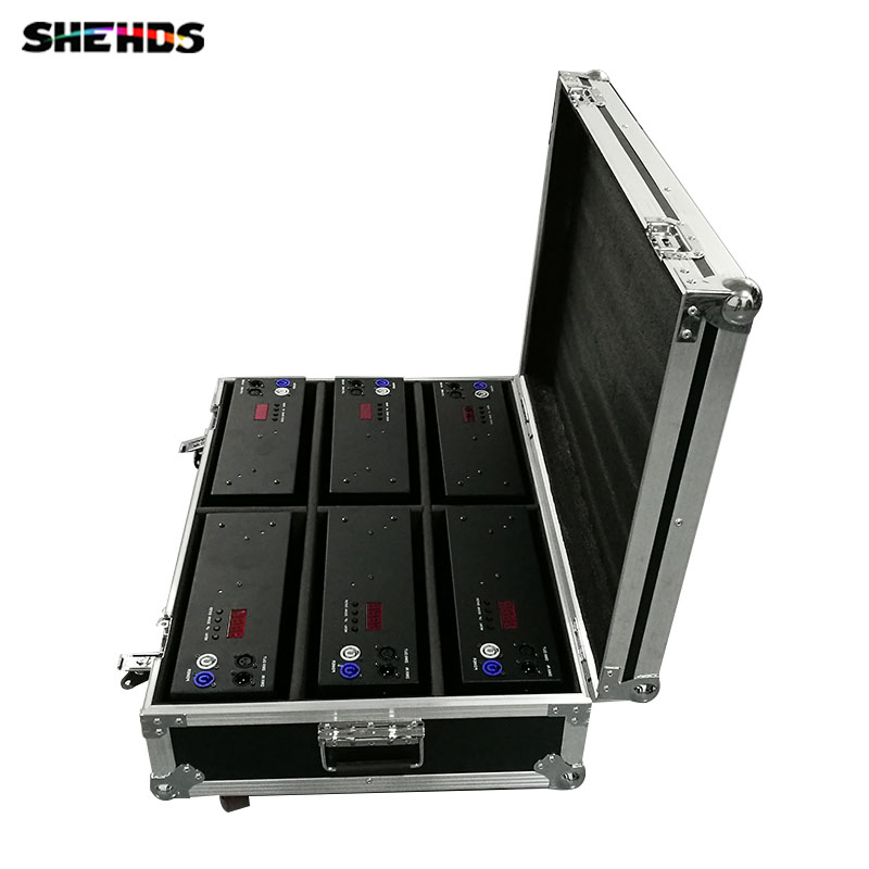 Flight Case With 6 Pieces 2eyes 200W LED COB Blinder Cool And Warm White/ Cool White/Warm White Lighting For Disco KTV Party