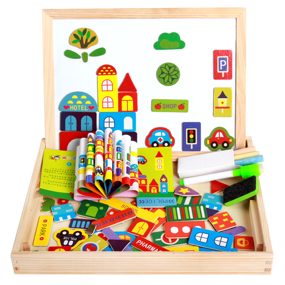Color & Shape Beautiful 1 Set 26 Alphabet Magnet Wooden Puzzle Toy Intelligence Development Toys For Children Magnetic Sticker Montessori Education Gift The Latest Fashion