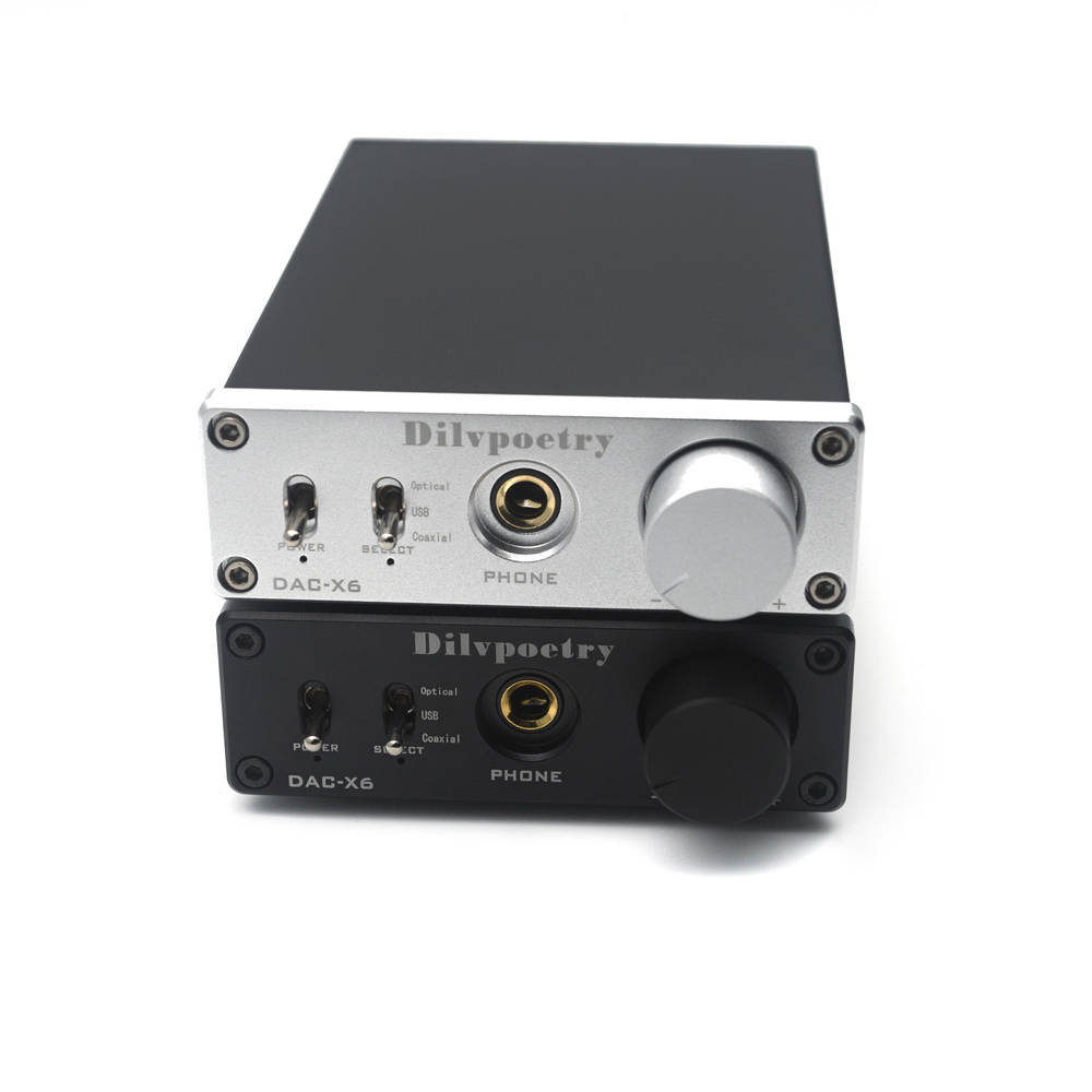 Dilvpoetry DAC-X6 N5532+TPA6120 Fever HiFi AMP Headphone Amplifier USB Fiber Coaxial Digital Audio Decoder DAC Amplificador xduoo xd 01 usb optical coaxial dac headphone amp l portable headphone amplifier 24bit 192khz headphone amplifier