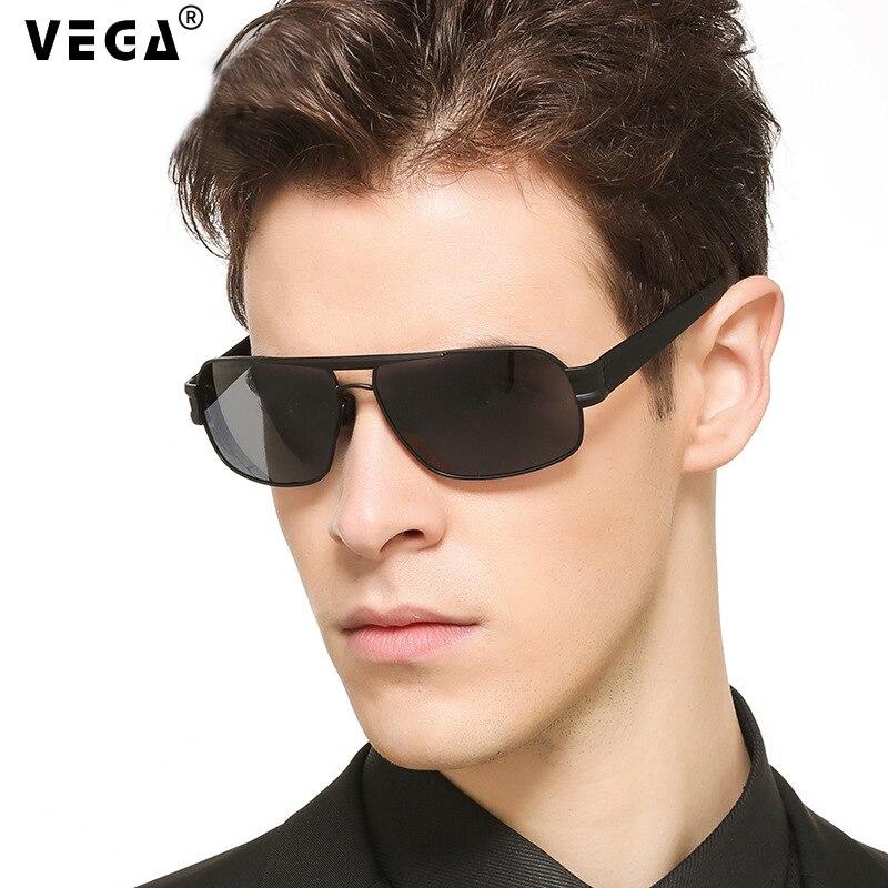 Gafas de sol militares polarizadas para hombre VEGA para conducir la policía gafas de sol UV cuadradas gafas negras para hombres visera antideslumbrante 3258