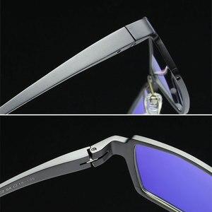 Image 4 - 202 Optical Eyeglasses Frame for Men Eyewear Prescription Glasses Full Rim Man Spectacles Alloy Frame Eyeglasses