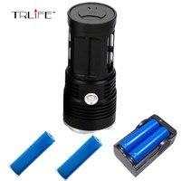40000 Lumens Flashlight 14* T6 DT70 LED Outdoor Lighting Waterproof Floodlight Torch Lantern Camping Light Lamp Hunting