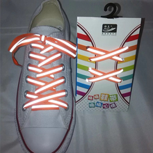 1Pair 3M Reflective Flat Sports Shoelaces Fluorescent Sneaker Shoestrings Running Shoelace For Adult Length 120cm