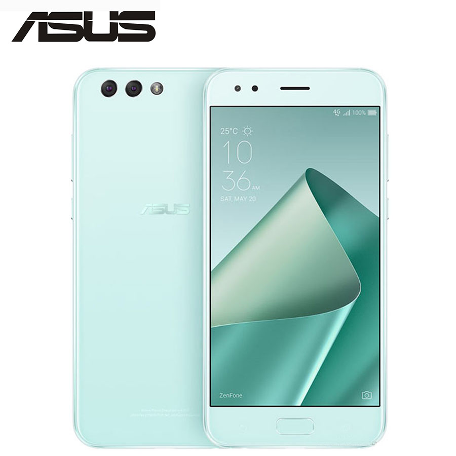 NEW ASUS ZenFone 4 ZE554KL 4G LTE Mobile Phone 4GB+64GB 12MP 5.5inch Screen 1080x1920p Snapdragon630 Octa Core Android CellPhone