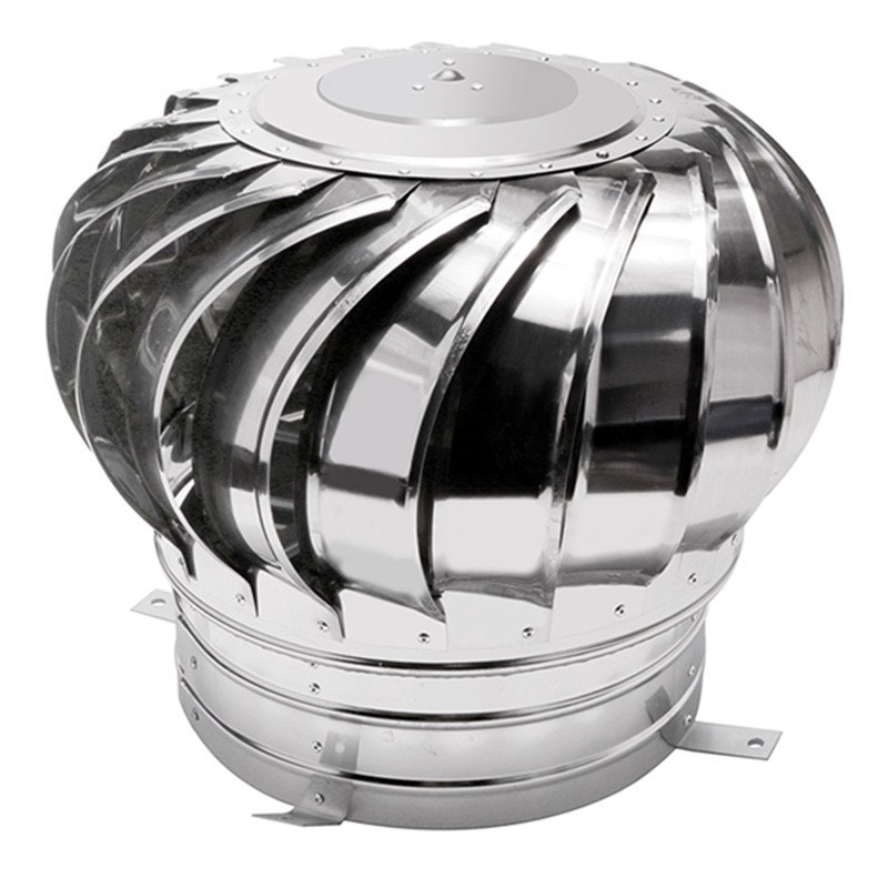 Stainless Steel Roof Ventilation Cap Without Power Natural Wind Power Ventilators High Quality Exhaust Caps For Factory Workshop