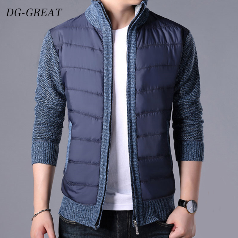 2019 New Fashion Sweater Men's Cardigan Warm Sweater Coat Sweater Coat Knitwear Zipper Winter Korean Style Casual Men Clothes