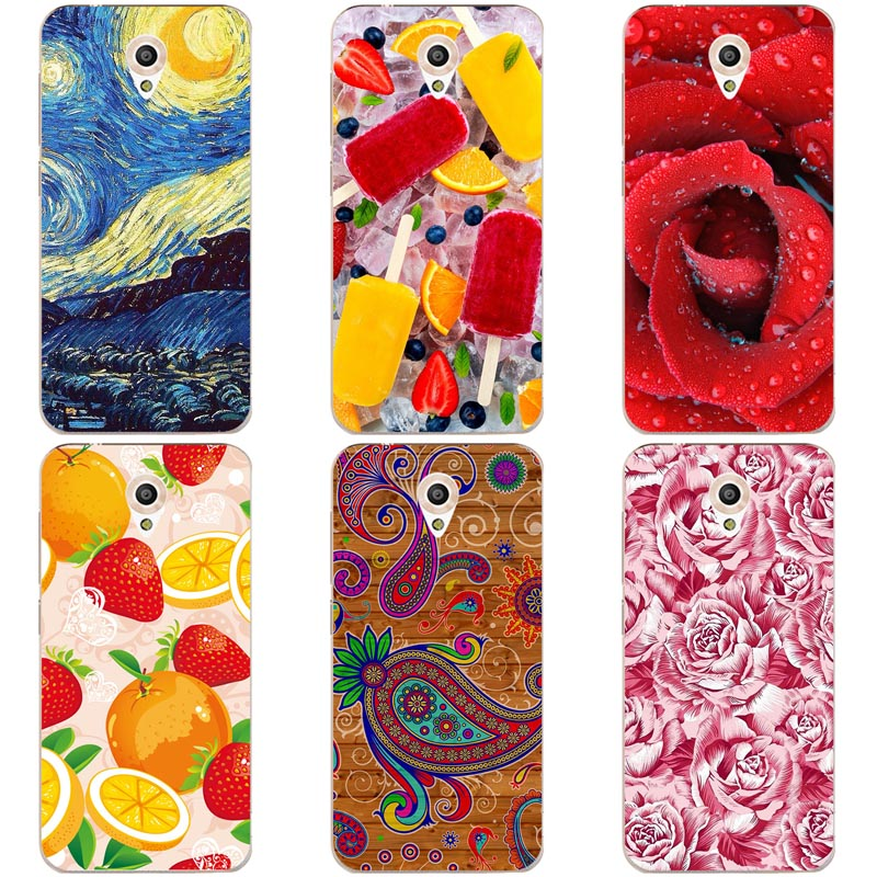 Luxury Printing Case For Vodafone Smart Prime 7 VFD600 5.0 Art Printed Flower Cell Phone Cover Rose Funda Cute Animal Coque