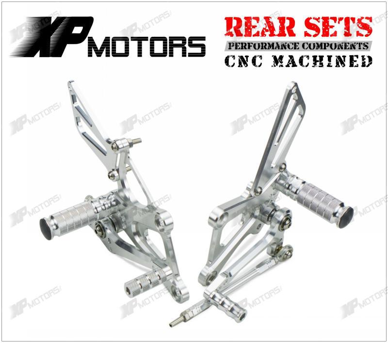 High Quality Silver CNC Billet Racing Rear Sets Foot Pegs
