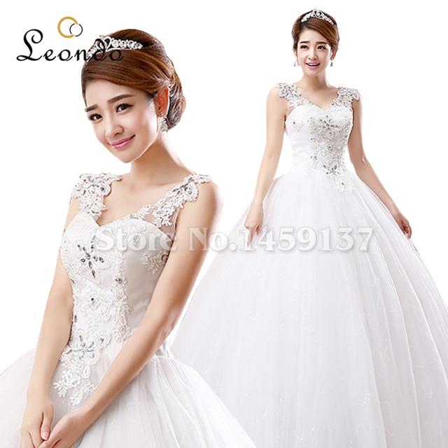 Leondo Lace Bohemian Wedding Dresses Vestido De Noiva Simples ...