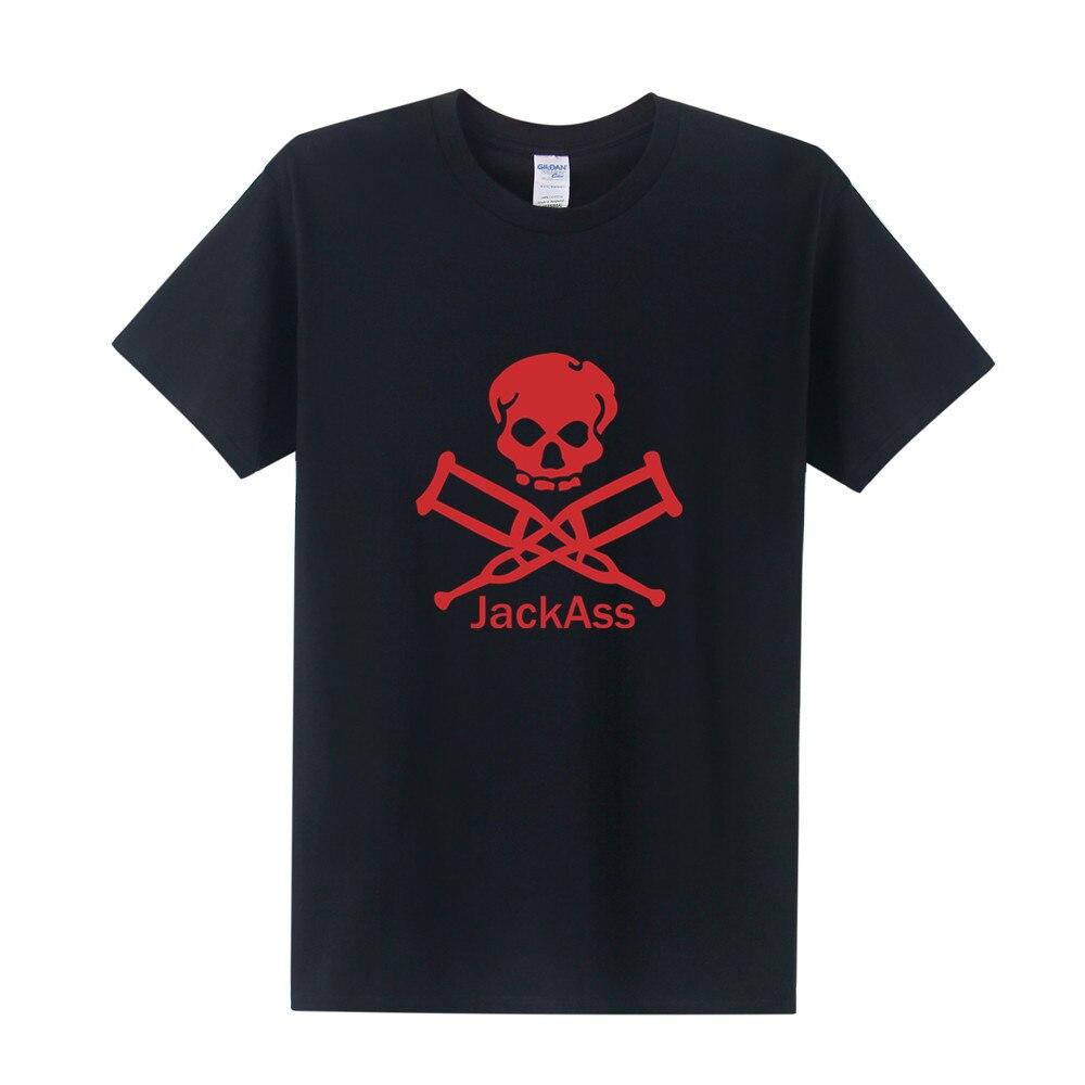 Free Shipping Jackass T Shirt Summer Short Sleeve Cotton T