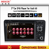 Capacitive Screen Two Din 7 Inch Car DVD Player For Audi A3 S3 2003 2004 2011