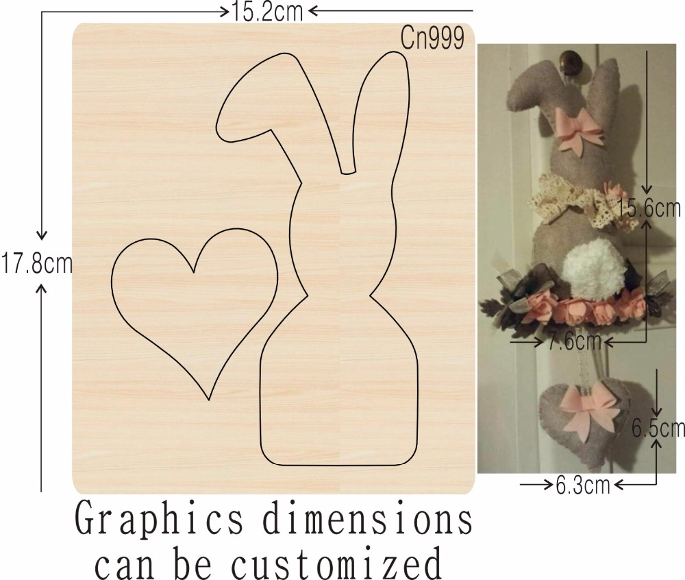 Rabbit decoration new wooden mould cutting dies for scrapbooking Thickness 15 8mm