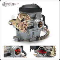 Free Shipping CVK PD18J 18mm Carburetor Fit Motorcycle GY6 50cc Scooter Moped PD18 Engine 139QMB 139QMA ABM IRBIS BAJA