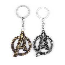 Marvel Железный человек Тони Старк Брелок фигурка игрушки Мстители Возраст Альтрона логотип брелок в винтажном стиле, бронзовый, металлический брелок Pendan