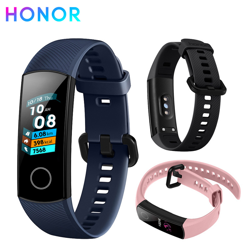 Huawei Honor Band 4 0.95-inch AMOLED Color Screen 5ATM Waterproof Swimming Supported Swim Posture Detect Heart Rate Sleep Snap