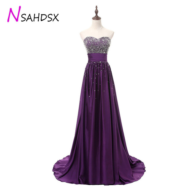 Sexy Woman Strapless Evening dinner Dress Plus Size Party Elegant 2018S  equined Beadings Mermaid Prom Gowns Vestidos de fiesta 5dd25b1c3ed9