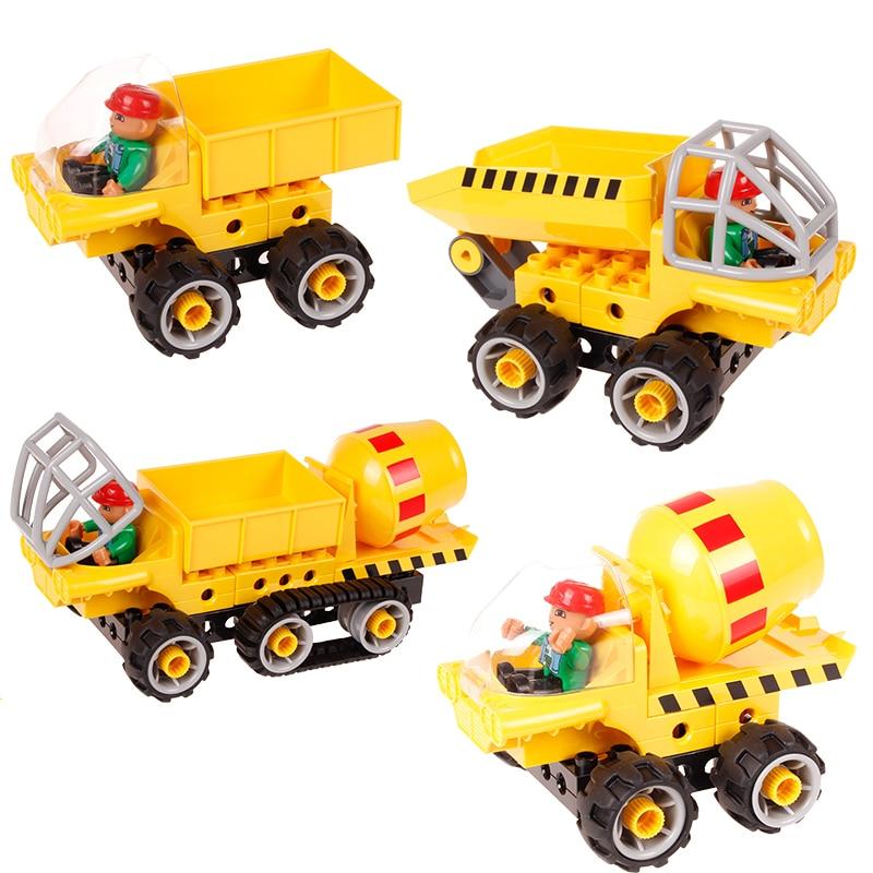 Blok Bangunan Kreatif Kereta Set 5 dalam 1 Trak Kejuruteraan - Mainan pembinaan - Foto 4
